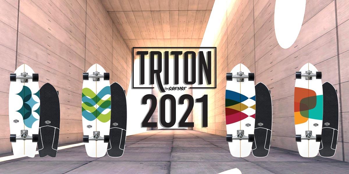 , Surfskate Triton 2021 Carver Skateboards, SEASONS Surf Supply